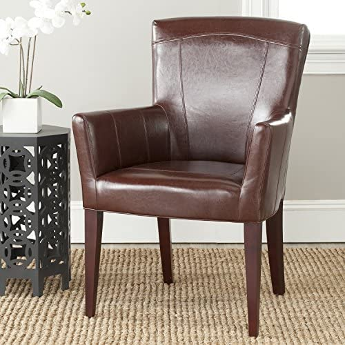 Safavieh MCR4710A Dale Arm Chair Accent Chairs Brown