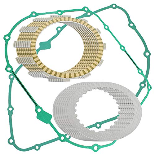 CALTRIC CLUTCH FRICTION PLATES w/GASKET KIT Fits HONDA VT1100C2 Shadow Sabre 1100 2000-2007 - Clutch Friction