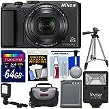 Nikon Coolpix A900 4K Wi-Fi Digital Camera (Black) with 64GB Card + Case + Flash + Video Light + Battery + Tripod + Kit