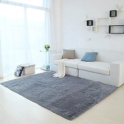 YJ.GWL Soft Shaggy Area Rugs for Kids Room Bedroom Non-slip Living Room Carpets Children Playing Nursery Mat Rectangular Home Décor Rug 4 Feet By 5 Feet