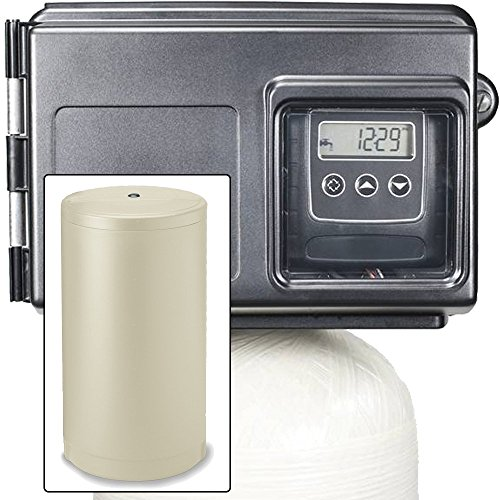 Abundant Flow Water 80k Water with Fleck 2510SXT Metered Valve-80,000 Grain Softener Removes Hardness and Scale, Almond