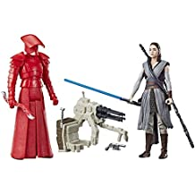 Star Wars: The Last Jedi Rey (Jedi Training) and Elite Praetorian Guard Figure 2-Pack 3.75 Inches
