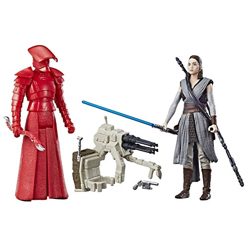 Star Wars: The Last Jedi Rey (Jedi Training) and Elite Praetorian Guard Figure 2-Pack 3.75 Inches (Star Wars Fighter Pods Toys R Us)