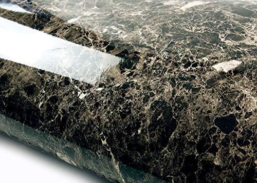 ROSEROSA Peel and Stick PVC Instant Marble Decorative Self-Adhesive Film Countertop Backsplash Maron Emperado (S4710-1 : 2.00ft X ()