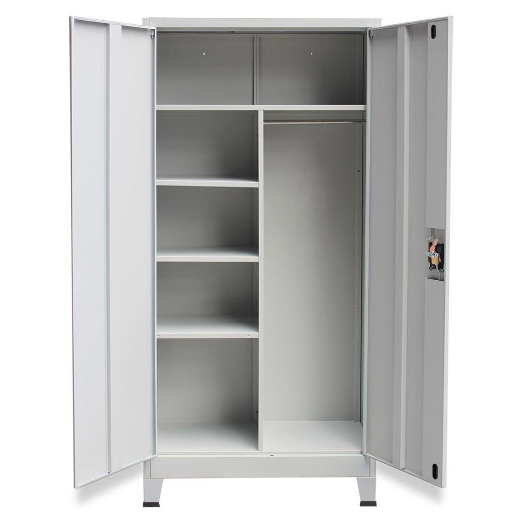 vidaXL Schließfachschrank Metallschrank mit 2 Türen Stahl 90x40x180 ...