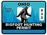 Bigfoot Hunting Permit - OHIO (Bumper Sticker)