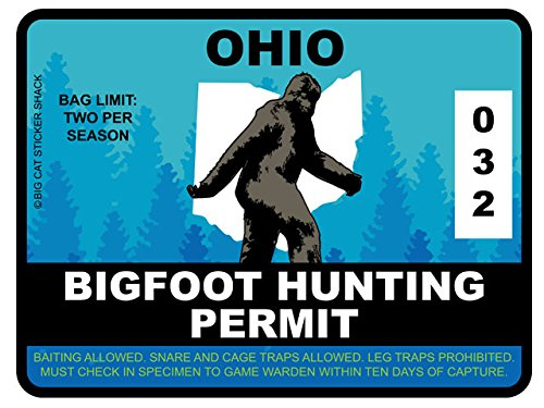 Bigfoot Hunting Permit - OHIO (Bumper Sticker)