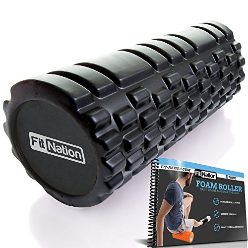 Fit-Nation Foam Roller for Muscle Massage with Exercise Book