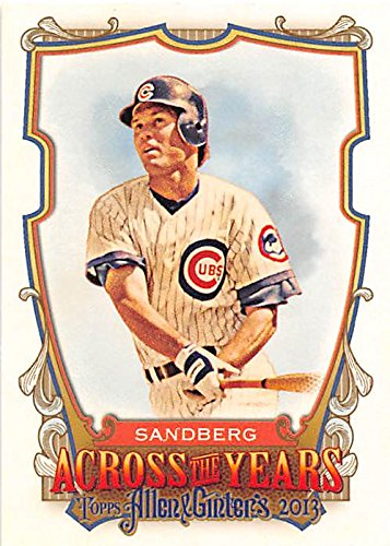 Ryne Sandberg Baseball Card  Chicago Cubs Hall Of Fame  2013 Topps Allen Ginters  Atyrs Across Years