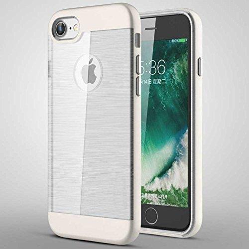 """4.7"""" iPhone 7 Coque, AOFad Case Concis Protection des lourds Mince Argent Plastique Hybride Accessoires Série Pour Femme Homme L199"""