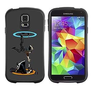 LASTONE PHONE CASE / Suave Silicona Caso Carcasa de Caucho Funda para Samsung Galaxy S5 SM-G900 / Portal Drop