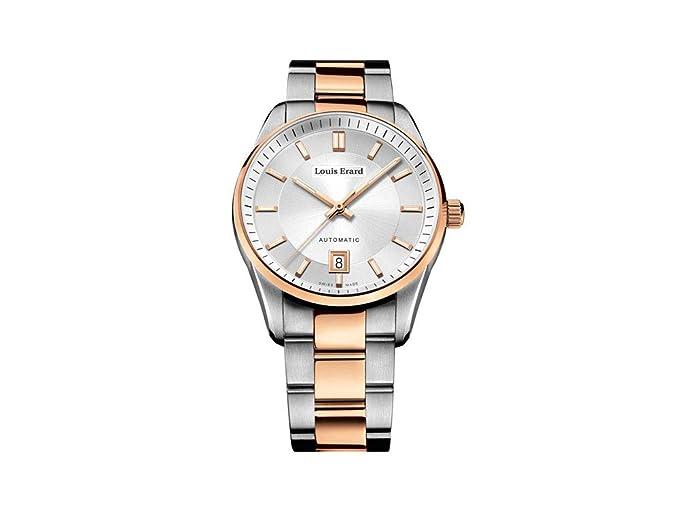 Reloj Automático Louis Erard Héritage Sport, Plata, 40 mm, PVD, 69101AB71.BMA21: Amazon.es: Relojes