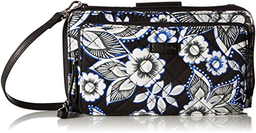 Vera Bradley Iconic Deluxe All Together Crossbody, Signature Cotton, Snow Lotus