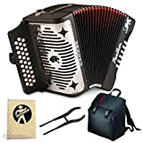 Hohner Panther 3100GB G/C/F 3-Row Diatonic Accordion with Free Accordion Road Kit