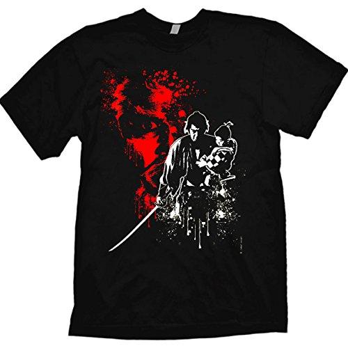 Shogun Assassin Lone Wolf & Cub Designer T-Shirt by Jared Swart Artwork & Apparel