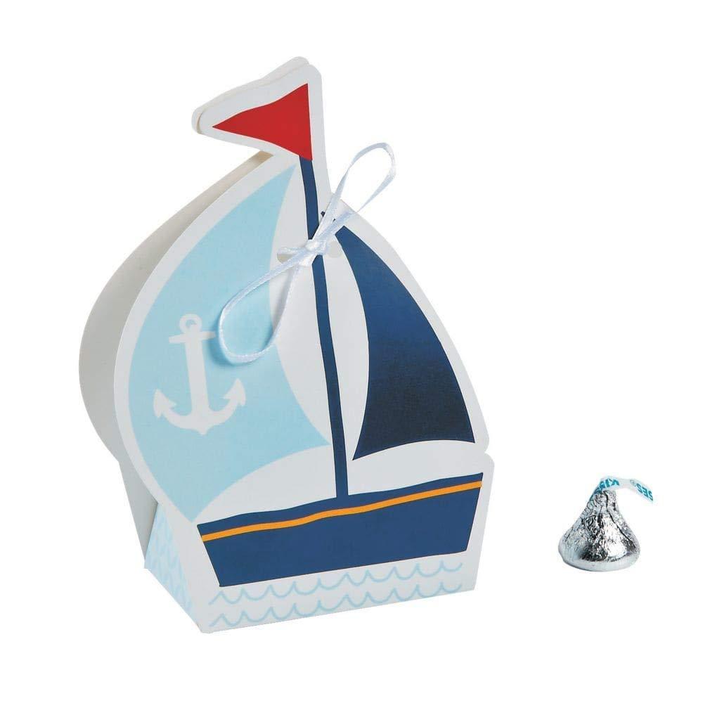 Fun Express Nautical Sailor Sailboat Party Favor Boxes 12 ct AX-AY-ABHI-78863