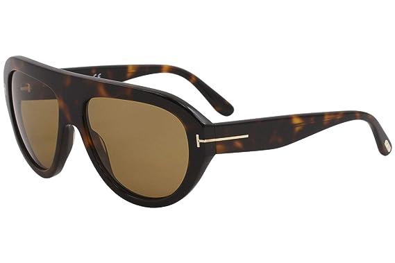 236def0dfc4f Image Unavailable. Image not available for. Color  Tom Ford FT0589 56E  Havana Felix Pilot Sunglasses Lens Category 2 Size 59mm