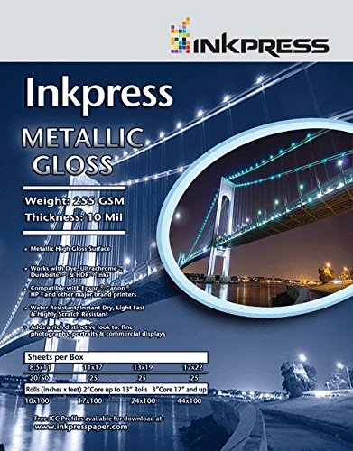 100' Glossy 1 Roll - Supply Spot offers Inkpress Metallic Glossy 24