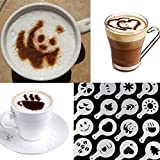 Hot 16Pcs Coffee Latte Art Stencils DIY Decorating Cake Cappuccino FoamTool CN (Color: White)