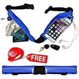 Belt4Run Running Activity Belt: Spacious, Lightweight, Waterproof Travel Fanny Pack with 2 Zippered Pockets, Adjustable to 42.5 Inch Waist in 4 Colors (Blue) Review