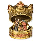 Christmas Table Decoration Nativity Crown Box with Holy Family