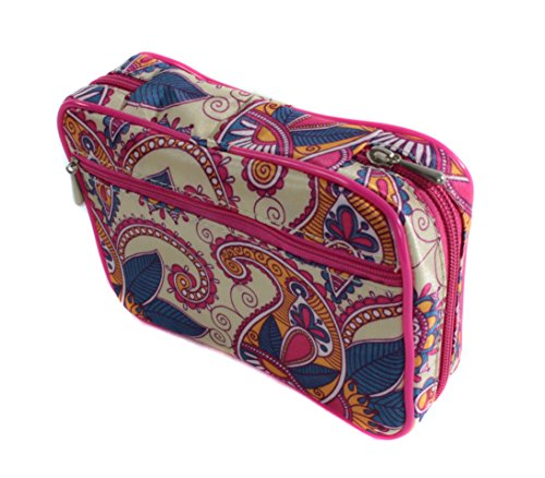 Fashion Smart Multi-compartment Jewelry Organizer Travel Case (Colorful Paisley) (Pattern Santa Earring)