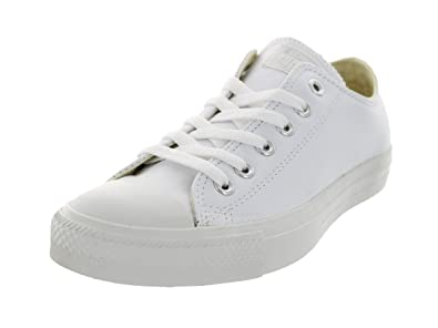 timeless design 5f931 89559 Image Unavailable. Image not available for. Color  Converse, 1T866, Unisex,  Chuck Taylor All Star Leather Low, White Monochrome 6.5