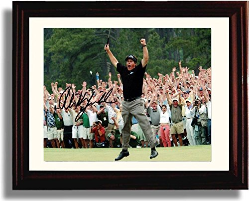 "Framed Phil Mickelson ""Celebration"" Masters Champ Autograph Replica Print"