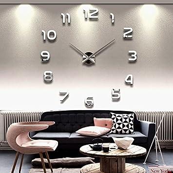 Beautiful Wanduhr DIY 3D Modern Bürouhr Für Wohnzimmer Schlafzimmer Home Decor  (Silber)