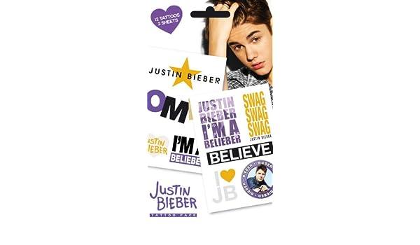 Tattoo Justin Bieber Belieber: Amazon.es: Juguetes y juegos