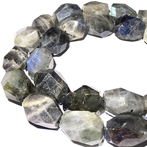 [ABCgems] Rare Brazilian Labradorite (Grade AA) 10X15mm Faceted Free-Form Beads for Beading & Jewelry Making