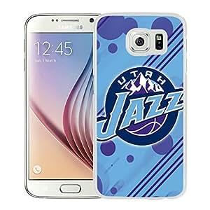 New Custom Design Cover Case For Samsung Galaxy S6 Utah Jazz 12 White Phone Case