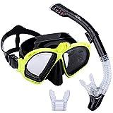 Supertrip Scuba Diving Snorkeling Freediving Mask Snorkel Set Yellow