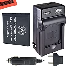 NP-BN1 Battery And Charger Kit For Sony CyberShot DSC-WX5 DSC-WX9 DSC-WX50 DSC-WX70 DSC-WX150 DSC-W330 DSC- DSC-W510 W530 DSC-W560 DSC-W570 DSC-W610 DSC-W620 DSC-W650 DSC-W690 DSC-TX10 Digital Camera + More!!