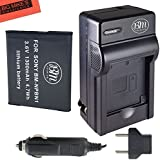 BM Premium NP-BN1 Battery And Charger Kit For Sony CyberShot DSC-QX10, DSC-QX30, DSC-QX100, DSC-WX5, DSC-WX9, DSC-WX50, DSC-WX70, DSC-WX150, DSC-W330, DSC-W510, DSC-W530, DSC-W560, DSC-W570, DSC-W610, DSC-W620, DSC-W650, DSC-W690, DSC-W800, DSC-W830, DSC-TX10, DSC-TX20, DSC-TX30 Digital Camera