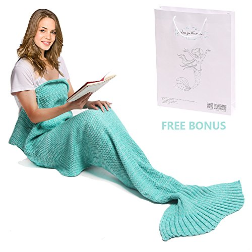 Mermaid Blanket Amyhomie Adult Crotchet product image