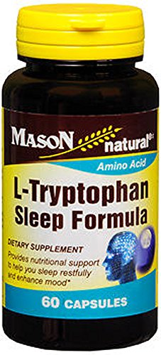 Mason Vitamins L-Tryptophan Sleep Formula Capsules,  60-Coun
