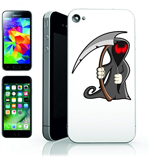 Smartphone Case Morte di Halloween di scheletro untote-Male Gothic Horror Zombie Mostro Spaventoso per Apple Iphone 4/4S, 5/5S, 5C, 6/6S, 7& Samsung Galaxy S4, S5, S6, S6Edge, S7, S7Edge Huawei