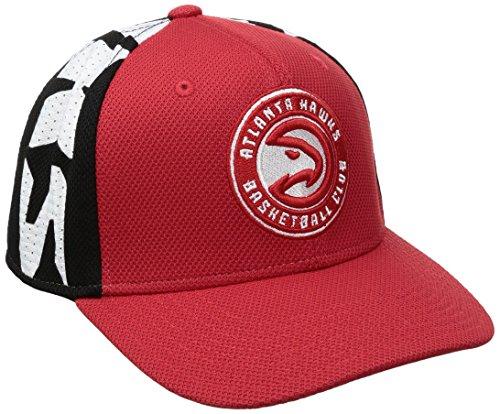 fan products of NBA Atlanta Hawks Men's City Name Meshback Flex Fit Hat, Red, Large/X-Large