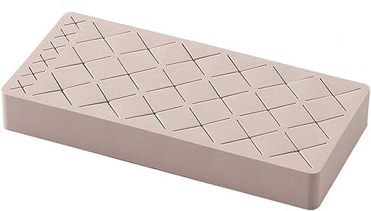 Xiuinserty Caja de almacenamiento para pintalabios de 24 rejillas de silicona, soporte para pintalabios, organizador de maquillaje, cosméticos para mujer rosa: Amazon.es: Hogar