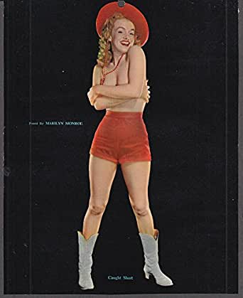 Amazon.com  Marilyn Monroe pin-up Caught Short 1953 red shorts   cowboy hat   Entertainment Collectibles a8fc597c50f