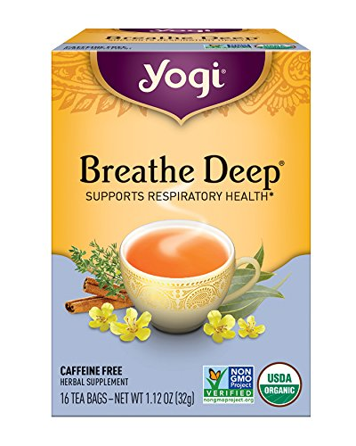 Yogi Tea, Breathe Deep, 16 Count (Pack of 6)
