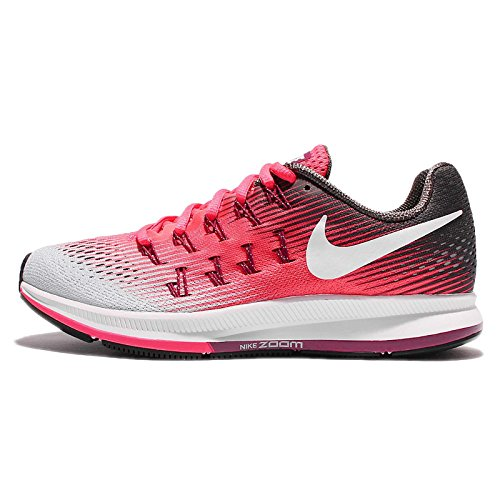 NIKE Women's WMNS Air Zoom Pegasus 33, Racer Pink/White-Midnight Fog, 7.5 US -