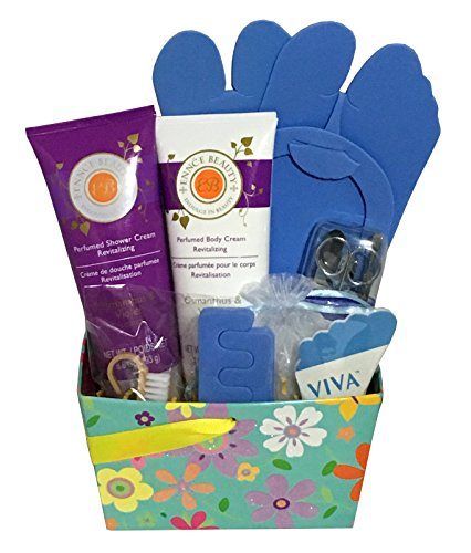 Just Add Feet! Pedicure Gift Basket - Pedicure Gift Set **Several Variations to Choose From** (Ennce Beauty - Osmanuthus & Violet)