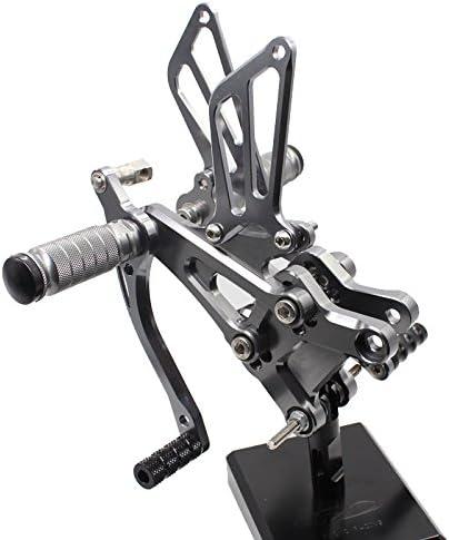 CBR600F F4 1999-2000 FXCNC Racing Billet Motorcycle Rearset Foot Pegs Rear Set Footrests Fully Adjustable Foot Boards fit for Honda CBR600F F4i 2001-2007
