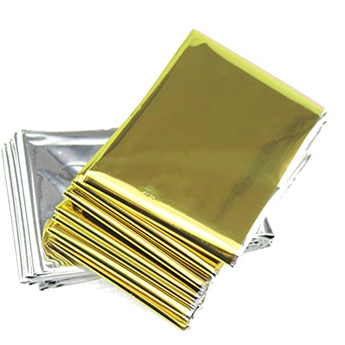 Emergency Mylar Survival Blankets Reflective Thermal Blanket Silver Gold (Pack of - Cap Marathon Mesh