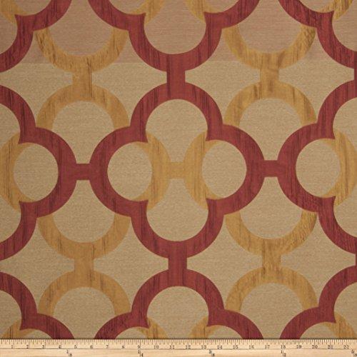 Fabricut Diego Lattice Faux Silk Spice