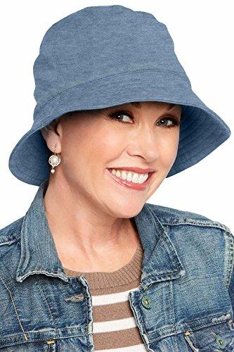Sun Protection UPF 50+ Bucket Hat   100% Cotton with Aloe Vera Lining UPF Blue Denim   ()