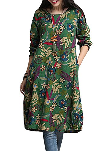 new-fashion-77-secret-garden-floral-print-batwing-sleeve-plus-size-dress-olive-greenx-large