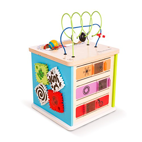 - Baby Einstein Innovation Station Wooden Activity Cube Toddler Toy, Ages 12 months and up